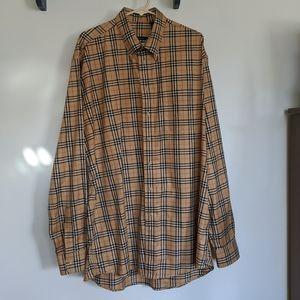 Burberry London Checkered Dress Shirt XL Tall